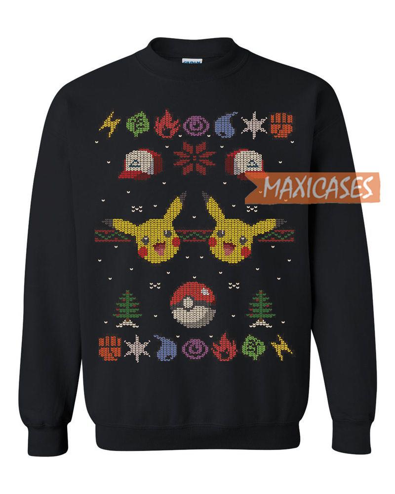 Pokemon Christmas Sweater.Pokemon Pikachu 2 Ugly Christmas Sweater Unisex Size S To 3xl