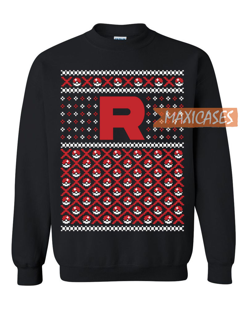 255b546d Pokemon Team Rocket Ugly Christmas Sweater Unisex Size S to 3XL