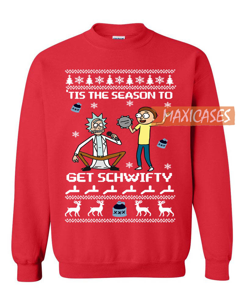 Rick And Morty Christmas.Rick And Morty Get Schwifty Ugly Christmas Sweater