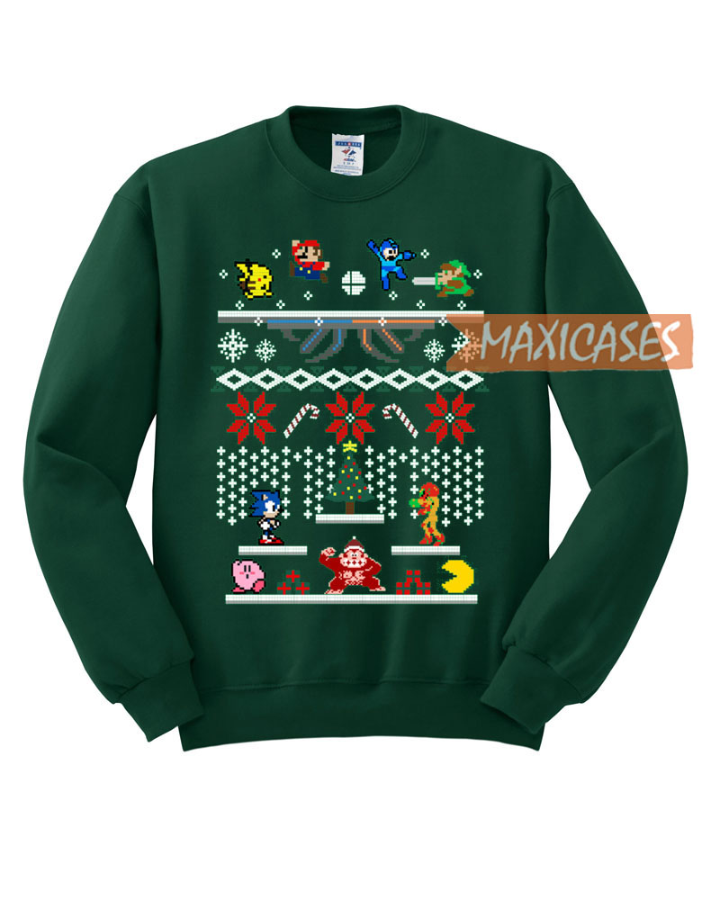 Super Smash Bros Ugly Christmas Sweater Unisex Size S To 3xl
