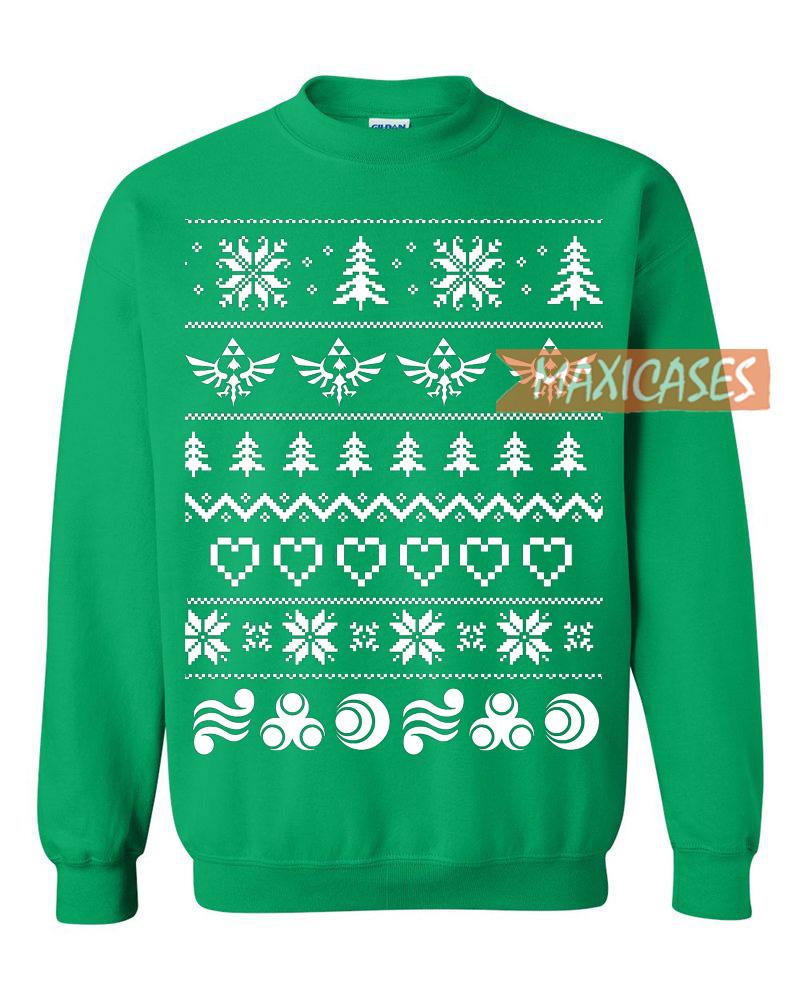 the legend of zelda 2 ugly christmas sweater unisex size s to 2xl - Legend Of Zelda Christmas Sweater