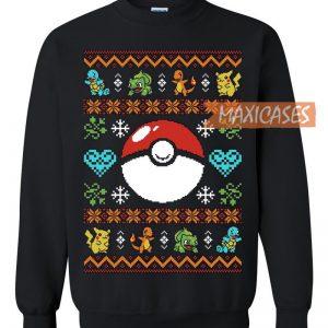 Pokemon Christmas Sweater.Pokemon Pokeball Ugly Christmas Ugly Christmas Sweater Unisex