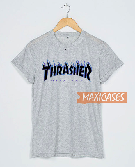 730ee3474db5 Thrasher Magazine Blue T Shirt Women Men And Youth Size S to 3XL