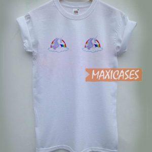 Twin Unicorn Rainbow T Shirt
