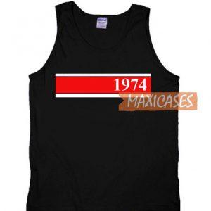 1974 Red Strip Tank Top
