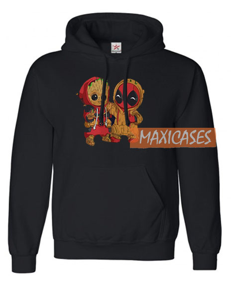 513cfc6df Baby Groot And Baby Deadpool Hoodie Unisex Adult Size S to 3XL