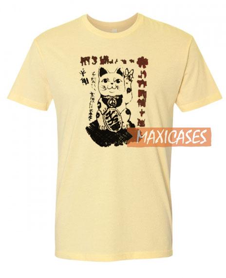Chinese Lucky Cat Cream T Shirt