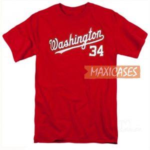 Washington 34 Red T Shirt
