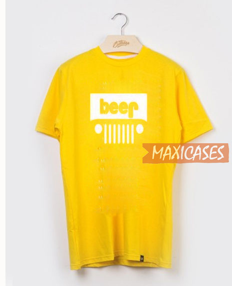 e1c325e6 Beer Jeep Funny Drinking T Shirt Women Men And Youth Size S to 3XL