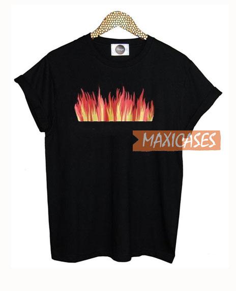 Fire Print T Shirt