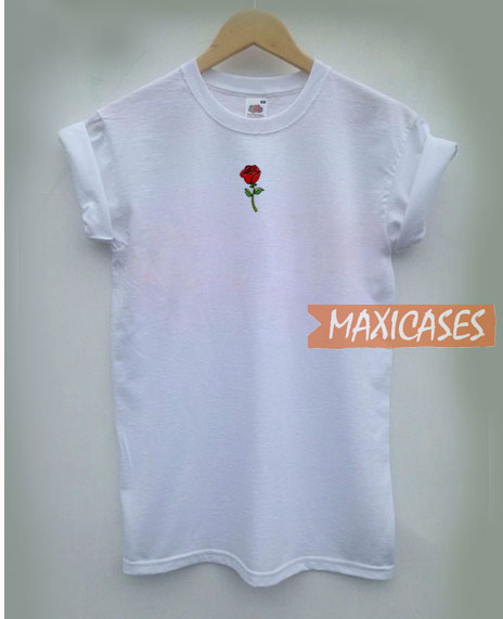 Red Rose Pocket T Shirt