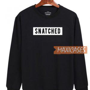Snatched Black Sweatshirt