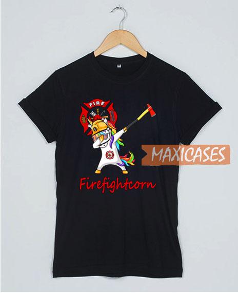 Dabbing Unicorn Firefightcorn T Shirt