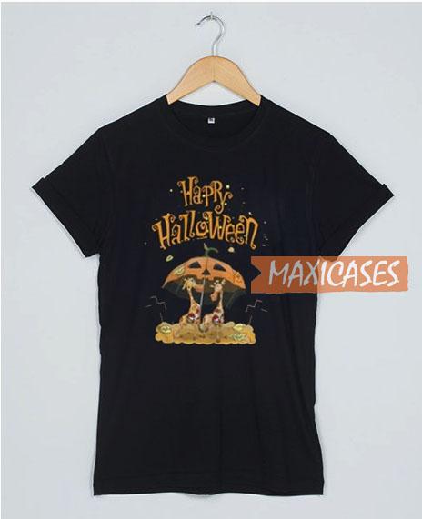 Giraffe Happy Halloween T Shirt