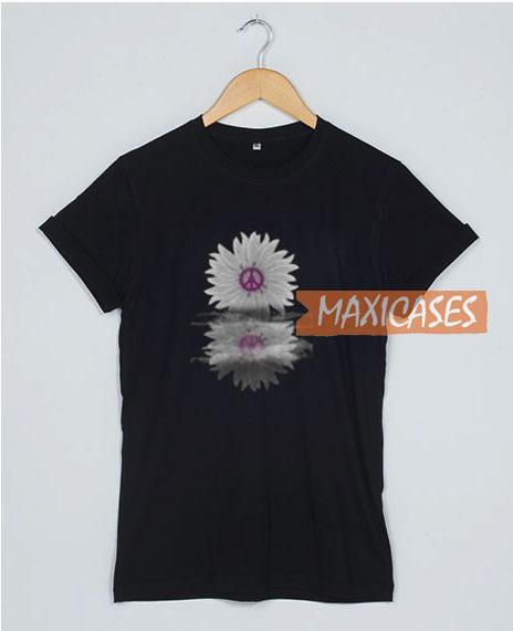 Hippie Flower Shadow T Shirt