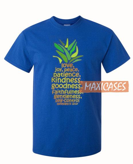 Pineapple Love Joy Peace T Shirt