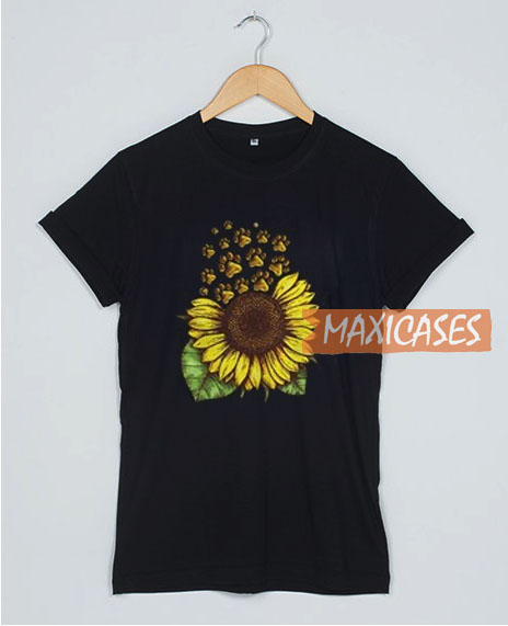 bf8c31829b7d Sunflower Dog Paw T Shirt Women Men And Youth Size S to 3XL