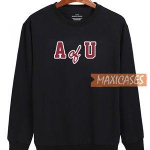 A Of U Font Sweatshirt
