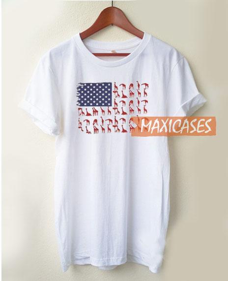 American Flag GiraffAmerican Flag Giraffe T Shirte T Shirt