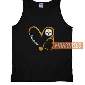 Stethoscope Heart Nurse Love Tank Top
