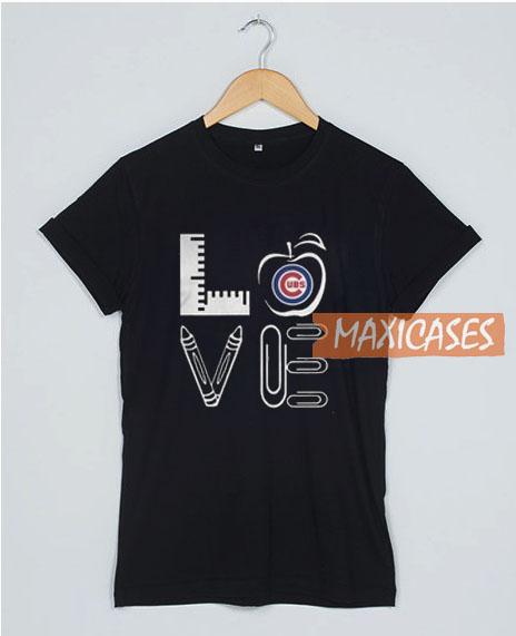 Teacher Love Chicago Cubs T Shirt