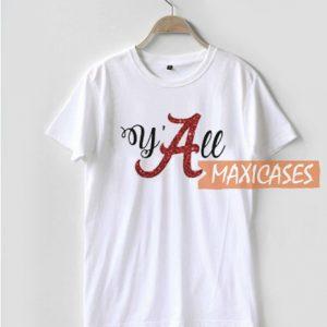 Y'all Alabama Crimson T Shirt