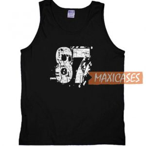 87 Distressed Grungy Numbered Tank Top