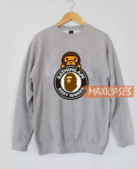 caed2d5bfff5 A Bathing Ape Milo On Busy Sweatshirt Unisex Adult Size S to 3XL