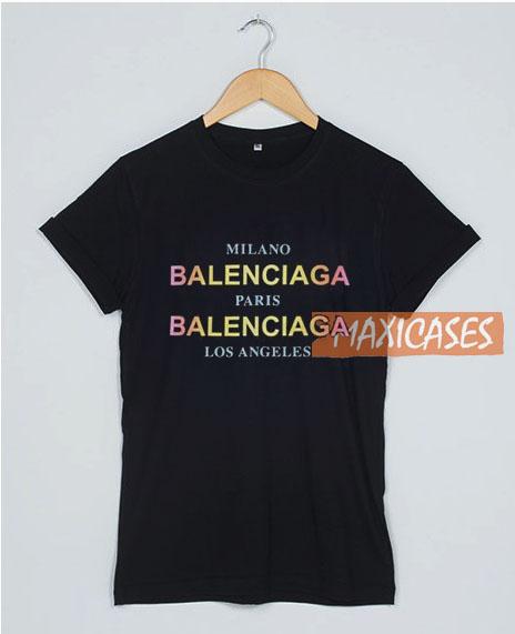 b8546048c Balenciaga City Paris Milano T Shirt Women Men And Youth Size S to ...
