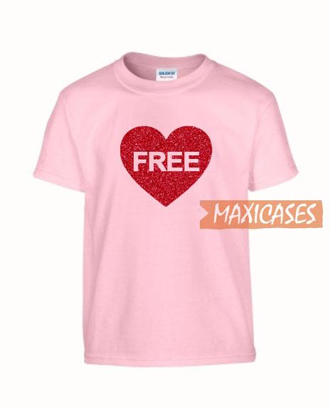e75c1a5da Heart Love Free T Shirt Women Men And Youth Size S to 3XL