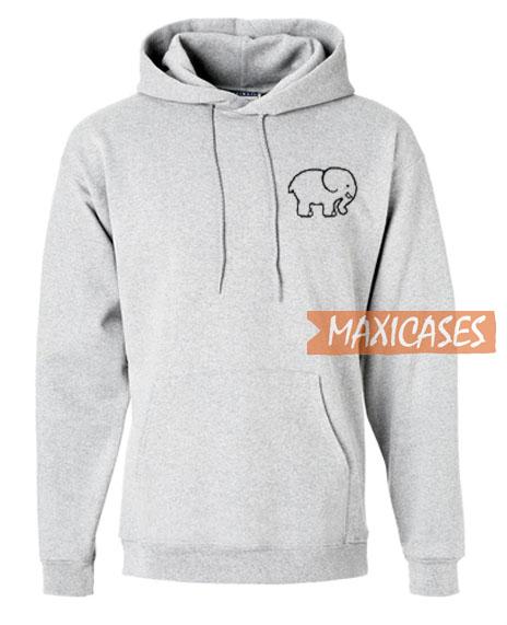 498446d5a59207 Ivory Ella Elephant Hoodie Unisex Adult Size S to 3XL