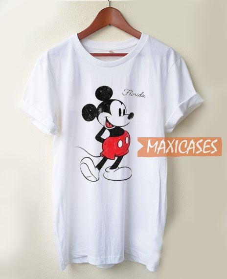 f1b3002d Mickey Mouse On Florida T Shirt Women Men And Youth Size S to 3XL
