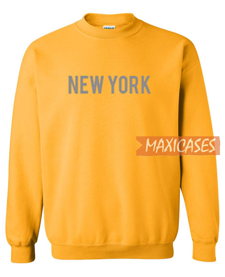New York Yellow Sweatshirt