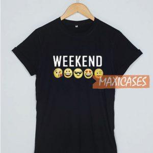 Weekend Emoji T Shirt