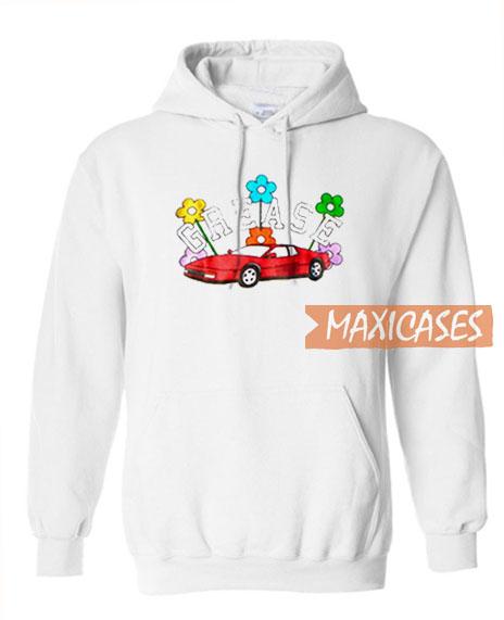 Grease Car Flowers Hoodie