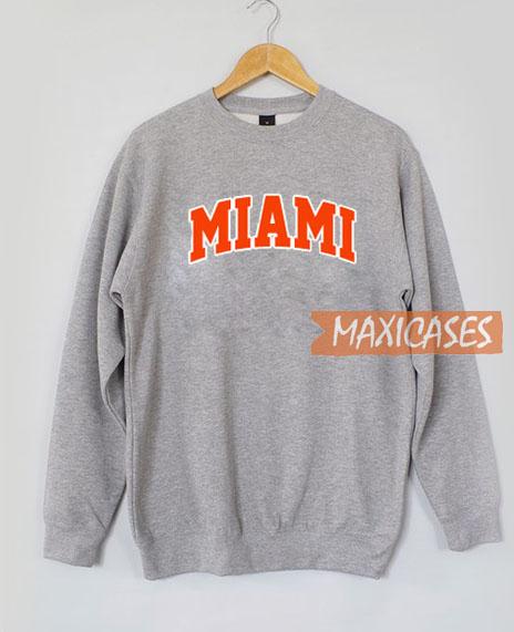 Miami Font Sweatshirt