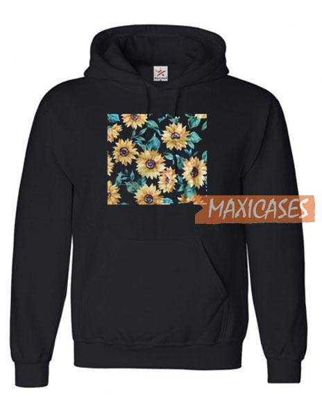 Sun Flowers Print Hoodie