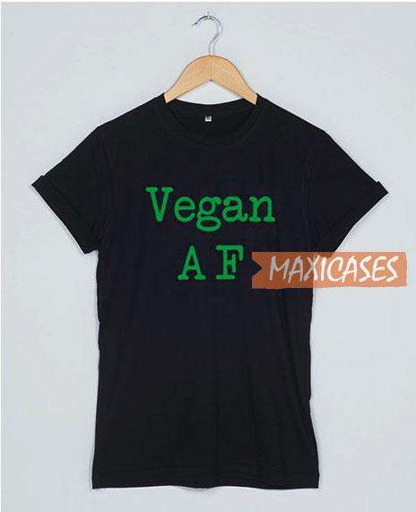 Vegan AF Font T Shirt