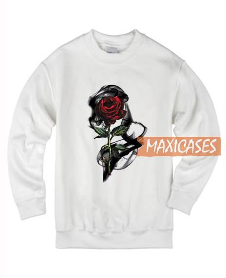3D Red Rose Sweatshirt