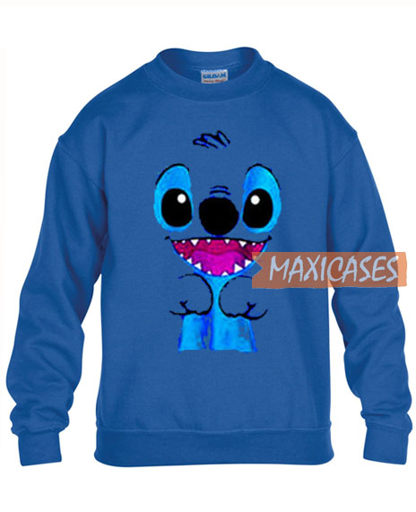 Kawaii Blue Lilo Stitch Sweatshirt