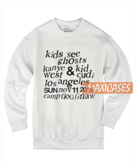 Kids See Ghosts Sweatshirt Unisex Adult Size S To 3xl