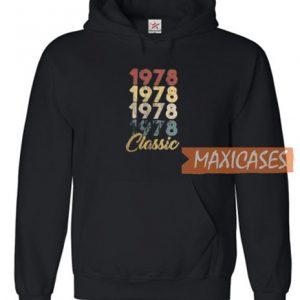 1978 Classic Font Hoodie