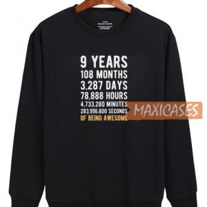 9 Years Black Sweatshirt