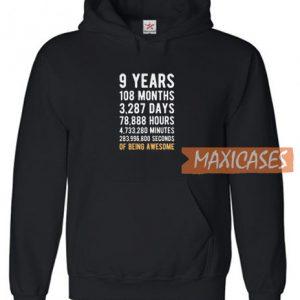 9 Years Logo Hoodie
