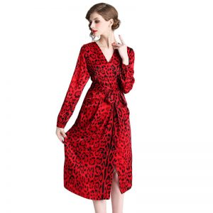 red leopard print dress, Leopard Print Dress, Vintage Red Leopard Print Dress, Dress