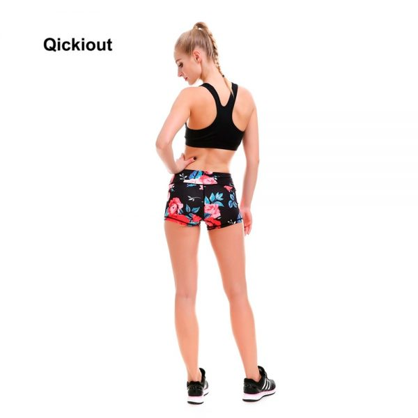 Red Rose Shorts Casual Women
