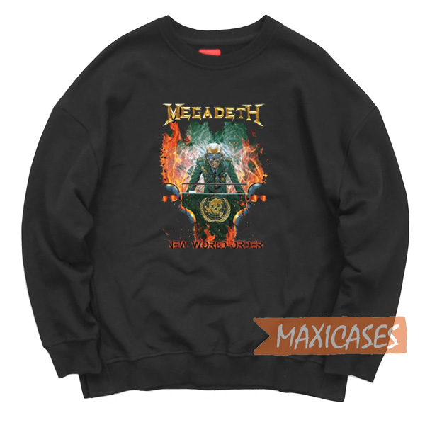 Megadeth New World Order Sweatshirt Unisex Adult