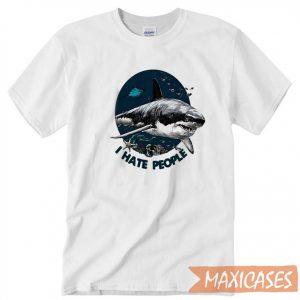 Shark I Hate People T-shirt